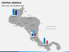 Central america map PPT slide 15