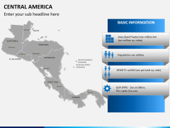 Central america map PPT slide 16