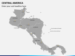 Central america map PPT slide 2