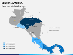 Central america map PPT slide 8