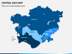 Central Asia Map PPT slide 1