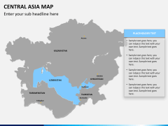 Central Asia Map PPT slide 10