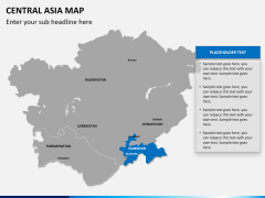 Central Asia Map PPT slide 11