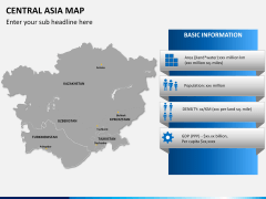 Central Asia Map PPT slide 13