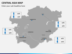 Central Asia Map PPT slide 14