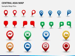 Central Asia Map PPT slide 16