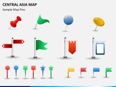 Central Asia Map PPT slide 17