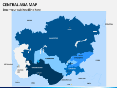 Central Asia Map PPT slide 2