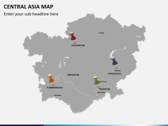Central Asia Map PPT slide 4