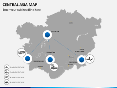 Central Asia Map PPT slide 6