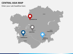 Central Asia Map PPT slide 7
