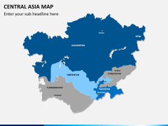 Central Asia Map PPT slide 9