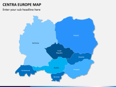Central europe map PPT slide 1