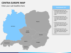 Central europe map PPT slide 10