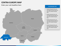 Central europe map PPT slide 12
