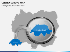 Central europe map PPT slide 13