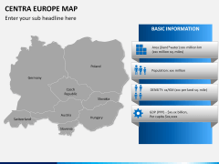 Central europe map PPT slide 15