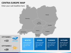 Central europe map PPT slide 16