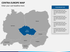 Central europe map PPT slide 9