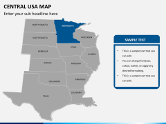 Central usa map PPT slide 10