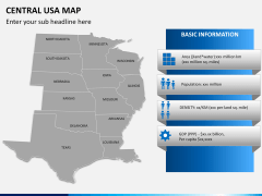 Central usa map PPT slide 14