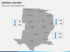 Central usa map PPT slide 15