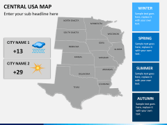 Central usa map PPT slide 16
