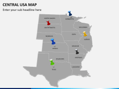 Central usa map PPT slide 4