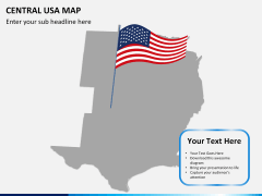 Central usa map PPT slide 6