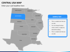 Central usa map PPT slide 9