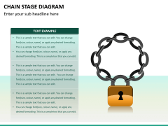 Chain stage diagram PPT slide 10