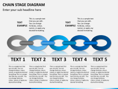 Chain stage diagram PPT slide 1