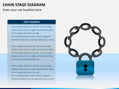 Chain stage diagram PPT slide 2