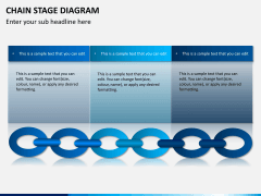 Chain stage diagram PPT slide 3