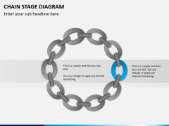 Chain stage diagram PPT slide 5