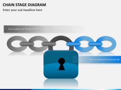 Chain stage diagram PPT slide 6
