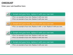 Checklist PPT slide 25