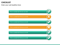Checklist PPT slide 17
