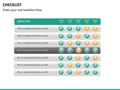 Checklist PPT slide 18