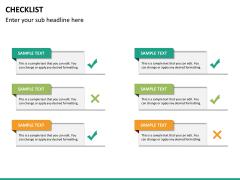 Checklist PPT slide 20
