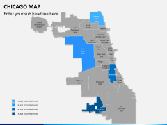Chicago map PPT slide 5