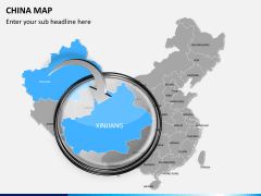 China map PPT slide 13