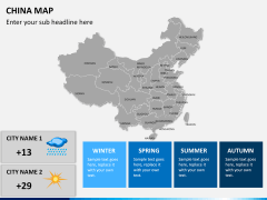 China map PPT slide 23