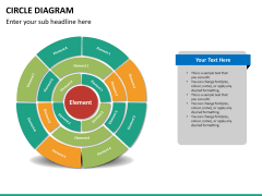 Circle diagram PPT slide 65
