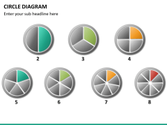 Circle diagram PPT slide 66