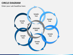 Circle diagram PPT slide 18