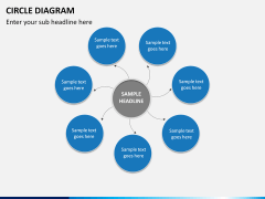 Circle diagram PPT slide 21