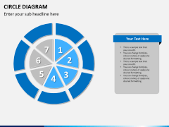 Circle diagram PPT slide 22