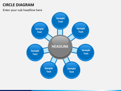Circle diagram PPT slide 23