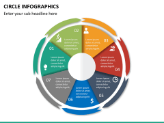 Circle Infographics PPT slide 30